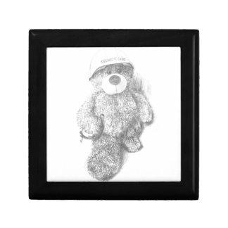 Engineer Teddy Bear Sketch Jewelry Box