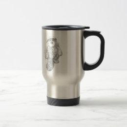 Engineer Teddy Bear Sketch Travel Mug
