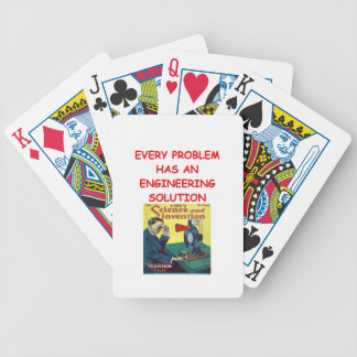 engineering bicycle playing cards