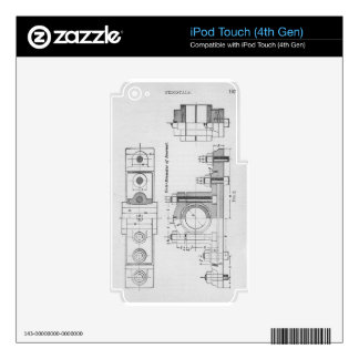 Engineering Blueprint Machinery Vintage iPod Touch 4G Skin