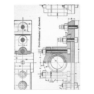 Blueprint letterhead zazzle engineering blueprint machinery vintage letterhead malvernweather Image collections