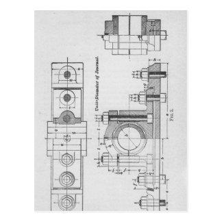 Engineering Blueprint Machinery Vintage Postcard