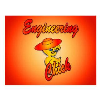 Engineering Chick #5 Postcard