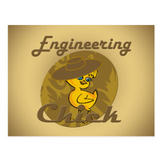 Engineering Chick #6 Postcard