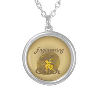 Engineering Chick #6 Round Pendant Necklace