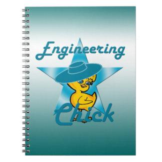 Engineering Chick #7 Spiral Notebooks
