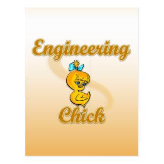 Engineering Chick Postcard