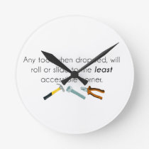 Engineering humor round clock