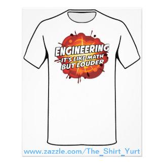 Engineering - It's Like Math But Louder Flyer
