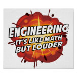 Engineering - It's Like Math But Louder Poster