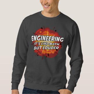Engineering - It's Like Math But Louder Pullover Sweatshirt