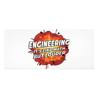 Engineering - It's Like Math But Louder Rack Card Design