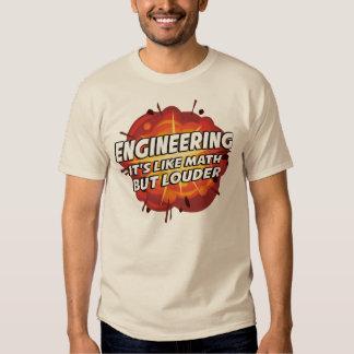 Engineering - It's Like Math But Louder Tshirts