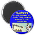 engineering joke 2 inch round magnet