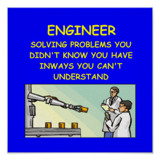 engineering joke poster