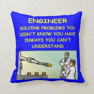 engineering joke throw pillow