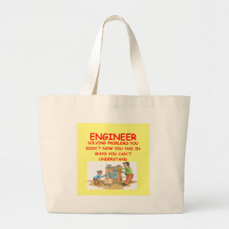 engineering large tote bag