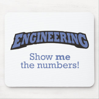 Engineering / Numbers Mouse Pad