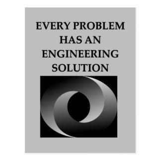 engineering post card