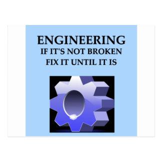 engineering postcard