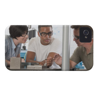Engineering professor demonstrating a coordinate iPhone 4 Case-Mate case