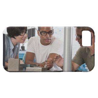 Engineering professor demonstrating a coordinate iPhone SE/5/5s case