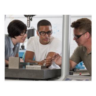Engineering professor demonstrating a coordinate postcard