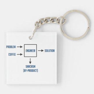 Engineering Sarcasm By-product Keychain