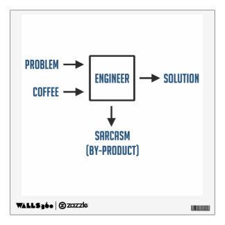 Engineering Sarcasm By-product Room Decals