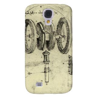 Engineering Sketch of a Wheel by Leonardo da Vinci Samsung Galaxy S4 Cover