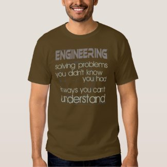 Engineering Solving Problems Tee Shirts