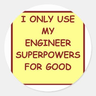 engineering round stickers