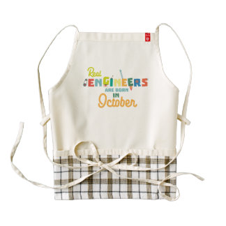 Engineers are born in October Zs52p Zazzle HEART Apron