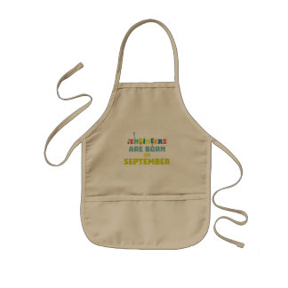 Engineers are born in September Z0ow6 Kids' Apron