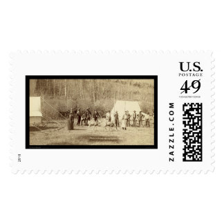 Engineers Corps in front of Tents SD 1889 Stamps