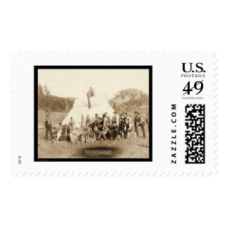 Engineers Corps Relaxing in Tent SD 1889 Postage Stamps