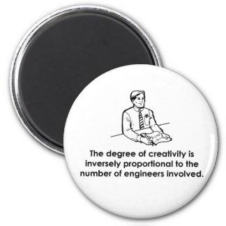 Engineers & Creativity 2 Inch Round Magnet