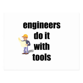engineers do it with tools postcard