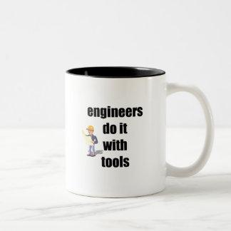 engineers do it with tools Two-Tone coffee mug