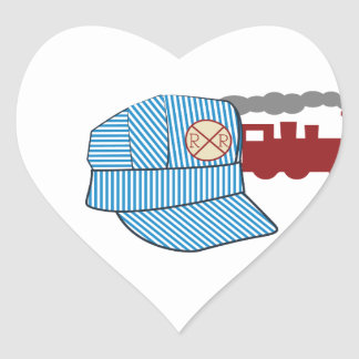 Engineers Hat Heart Sticker