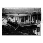 Engineer's Houseboat, Florida Everglades, 1915 Greeting Card