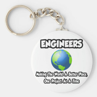 Engineers...Making the World a Better Place Keychain