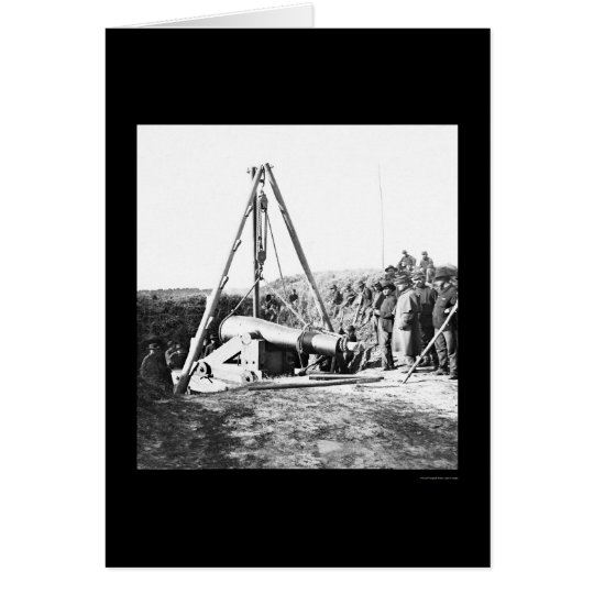 Engineers Removing a Gun for General Sherman 1864 Card