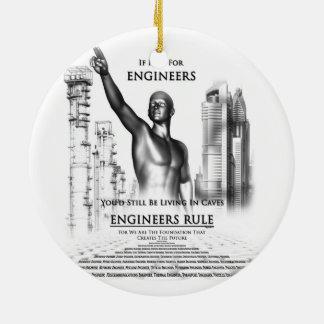 Engineers Rule Ceramic Ornament