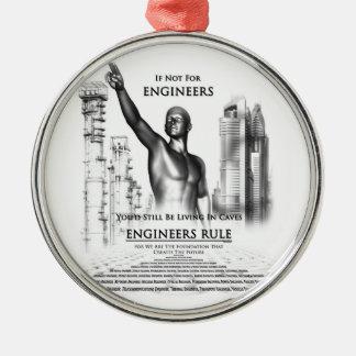 Engineers Rule Metal Ornament