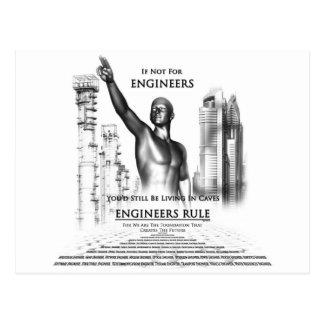Engineers Rule Postcard