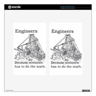 Engineer's Trebuchet Kindle Fire Decal