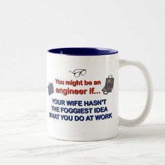 Engineer's Wife Two-Tone Coffee Mug