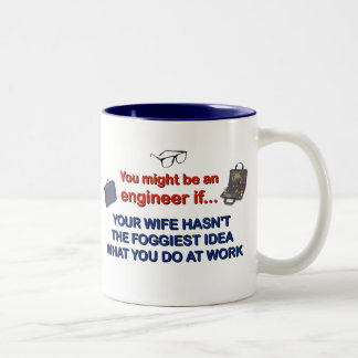 Engineer's Wife Two-Tone Coffee Mug