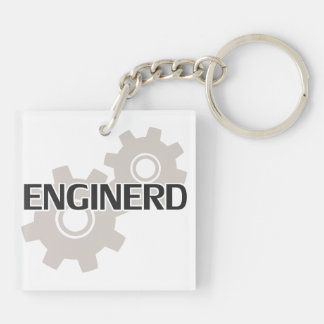 Enginerd Engineer Nerd Double-Sided Square Acrylic Keychain